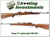 Ruger Model 77 RLS Rare Light Sporter 308 Win