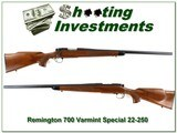 Remington 700 Varmint Special 22-250 early pressed checkering