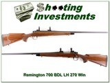 Remington 700 BDL Left Handed 26in 270 Win