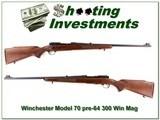 Winchester 70 pre-64 1962 RARE 300 Win Mag NEW CONDITION! - 1 of 4