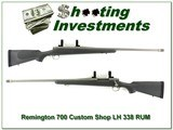 Remington 700 LH Custom Shop Stainless 338 RUM!