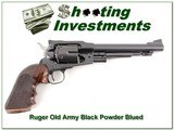 Ruger Old Army Black Powder 7.5 blued with 45LC Conversion kit
