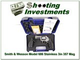 Smith & Wesson Model 686 Stainless 3in 357 in case