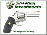 "COLT KING COBRA .357mag 4"" Stainless Exc Cond!"