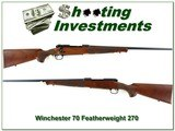 Winchester 70 Classic Featherweight 270 Win - 1 of 4