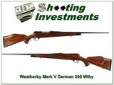 Weatherby Mark V Deluxe German 240 collector! - 1 of 4