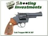 Colt Trooper MK III 357 Magnum 4in Exc COnd - 1 of 4