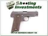 "VICTOR BERNEDO EIBAR 7.65 Model Automatic Pistol 3.5"" barrel"