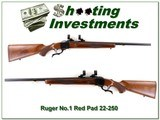 Ruger No.1 Red Pad Varmit 22-250 Exc Cond - 1 of 4
