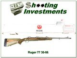 Ruger 77 Stainless Green Laminated 30-06 Guild Gun NIB