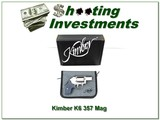 Kimber K6S Stainless 357 Magnum in box