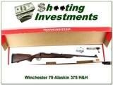Winchester 70 Alaskan 375 H&H unfired in box! - 1 of 4