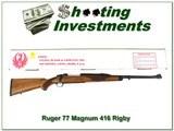 Ruger 77 RSM 416 Rigby Safari in box!