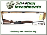 Browning BAR Safari 7mm Rem unfired in box!