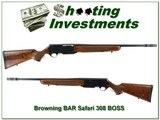 Browning BAR Safari 308 with RARE BOSS!