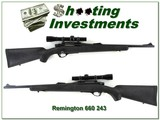 Remington 660 243 Win with vintage Leupold - 1 of 4