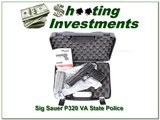 Sig Sauer P320 Virginia State Police rare unfired and NEW!