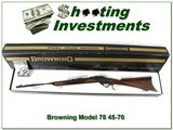 Browning Model 78 45-70 unfired in box