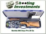 Beretta 686 Onyx Pro 28 Gauge 30in XX Wood in case!