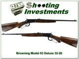 Browning Model 53 Deluxe 32-20 XX Wood looks unfired!