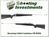 Browning A-Bolt Stainless Stalker BOSS 338 Win