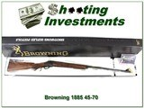 Browning 1885 45-70 BPCR 30in, case colored unfired in box!