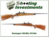 Remington 700 BDL 270 Exc Cond