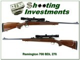 Remington 700 ADL 270 Win Exc Cond w/ scope