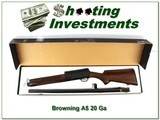 Browning A5 Light 20 in box Exc Cond!