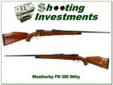 Weatherby FN 1958 made 300 Wthy Mag collector!