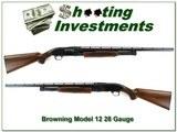 Browning Model 12 28 Ga Exc Cond nice wood!
