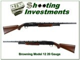 Browning Model 12 20 Ga looks new nice wood!