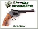Smith & Wesson 48-7 22 Magnum Exc Cond 6in Blued