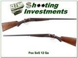 AH Fox H Grade 1928 Philadelphia 12 Ga 26in Skt & Skt