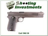 Colt 1902 Sporting 38 ACP made in 1904 all original!