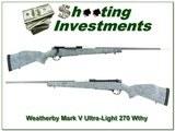 Weatherby Mark V Ultralight 270 Wthy