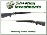 Weatherby Mark V Alaskan 340 Wthy with factory accubreak