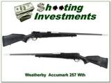 Weatherby Mark V Accumark 257 Wthy Mag!