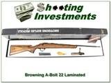 Browning A-Bolt 22LR RARE Laminated ANIB!