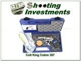Colt King Cobra Stainless 357 Mag 3in NIB!