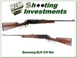 Browning BLR Model 81 270 Win Exc Cond
