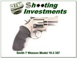 Smith & Wesson Model 19-3 Polished Nickel 2.5in 357