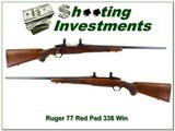 Ruger 77 Red Pad Tang Safety 338 Win Mag Exc Cond!