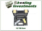 CZ 75B Omega 9mm with 2 16 round mags unfired wood grips