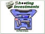 FN FNX-9 9mm unfired in Night Sights case 3 magazines!
