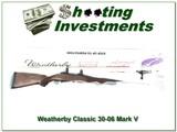 Weatherby Mark V LH 30-06 Classicmark ANIB!