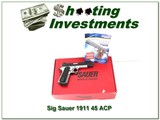"""Sig Sauer 1911 45 ACP, 5"""" Two Tone unfired in case!"""