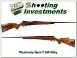 Weatherby Mark V Custom 26in 9-Lug 240 Wthy