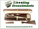 browning superposed superlight 20 gauge in case