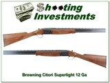 browning citori superlight 12 gauge as new!